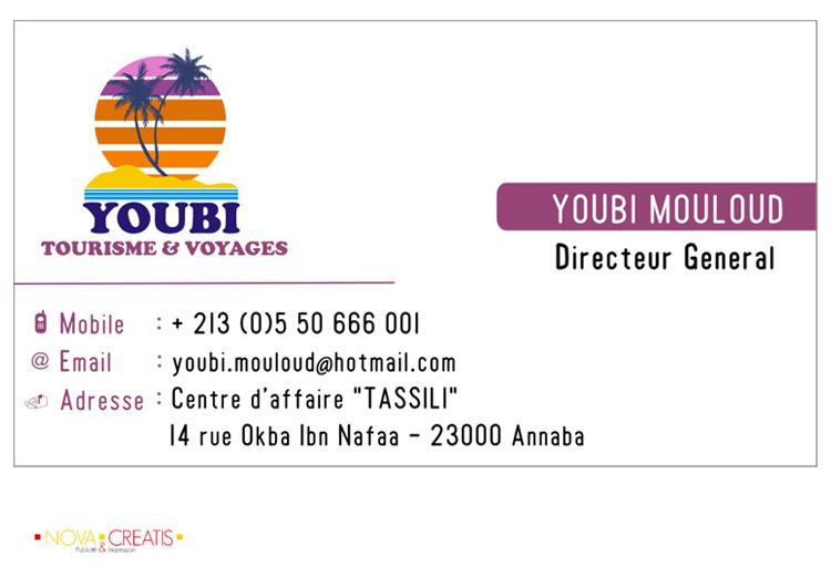 Youbi Tourisme Et Voyages Carte Visite